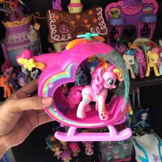 Pinky pie helicopter set