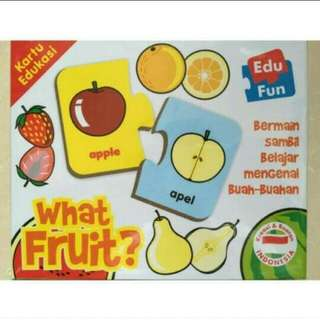 Mainan Edukasi Puzzlo What Fruit