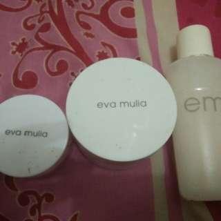 Eyemask, masker, cleansermilk Eva mulia