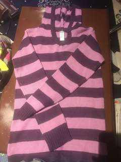 Purple striped sweater