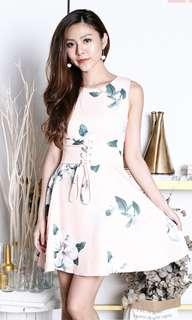 Lindsey waist tie floral dress