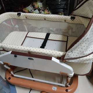 台製多功能嬰兒水平式搖床.汽車睡床.透氣布床