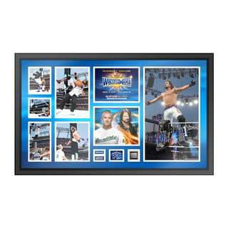 WWE Wrestlemania 33 AJ Style signed commemorative plaque