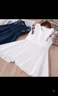 Baby dresses new girls children's clothing children's color embroidered sleeveless skirt