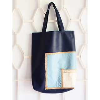 TOTE One-Of-A-Kind Hand - Sewn                                                                              Duo Patch