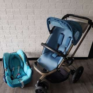 Quinny Buzz Stroller With Maxi Cozi Car Seat
