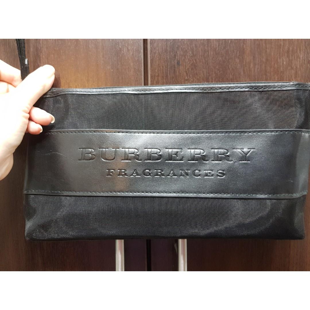 697a99a12025 100% Authentic Burberry Fragrance pouch makeup bag  wrislet