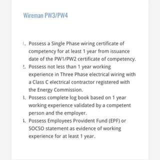 Licensed PW4 (Wireman)