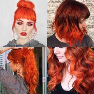 No Bleaching Orange HyunCo Professional Hair Color Cream