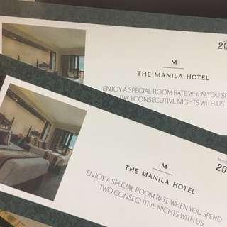 MANILA HOTEL PRESTIGE SPECIAL ROOM RATE VOUCHER
