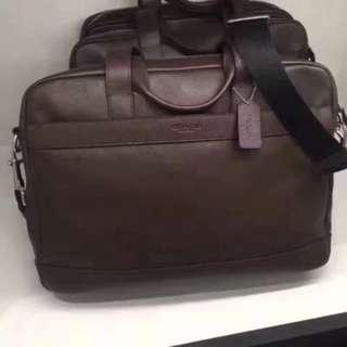 Authentic Coach men briefcase laptop bag Sling bag