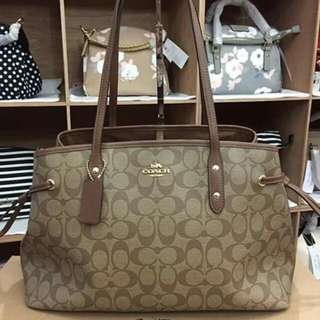 Authentic Coach Bag Brown USA