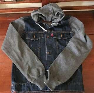 Jacket denim hoodie