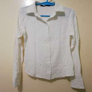 White Longsleeve Top | Extra Small
