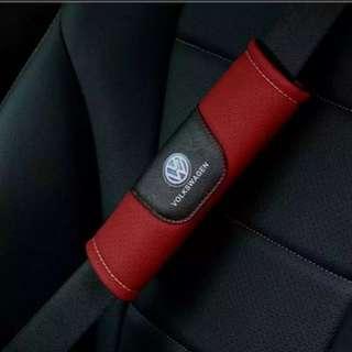 For Volkswagen: Brand New High Quality Leather Seat Belt Seatbelt Cover Shoulder Pad for Volkswagen