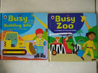 Ladybird Lift-The-Flap Book (Busy Building Site & Busy Zoo)