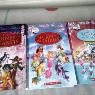 Thea Stilton hard cover books