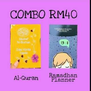 AlQuran dan Planner Ramadhan