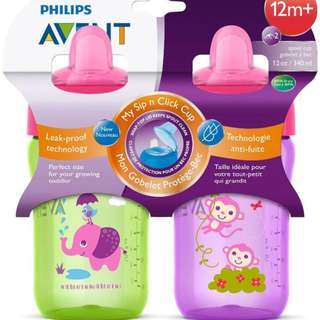 12oz Philips Avent Spout Sippy Cup, 12m+ (Twin Pack)