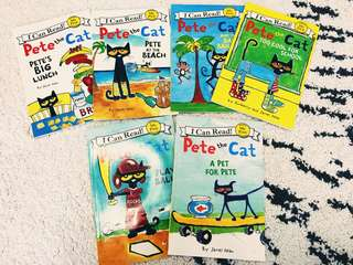 I can read Pete the cat 6 books