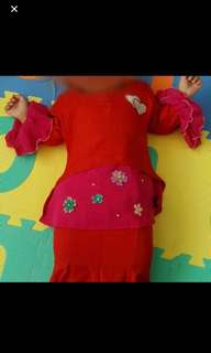 Baby girl baju kurung(buy 2 get 1 free)