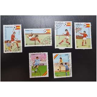1981 and 1982 World Cup Football Stamp