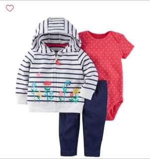 *12M* BN Carter's 3-Piece Little Jacket Set For Baby Girl
