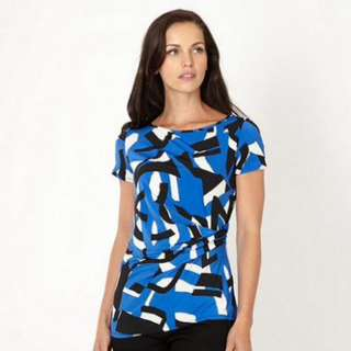 Debenhams Royal Blue Geometric Top