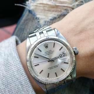 Vintage Rolex 古董錶 Ref.6605 , (即是鋼王1601前身, semi bubbleback 蝴蝶陀) 1956年生產。