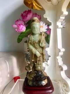 Old Nephrite Jade Guan Yin