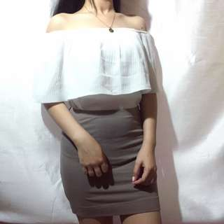 Off shoulder white