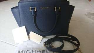 Michael Kors Bag Medium Selma Navy