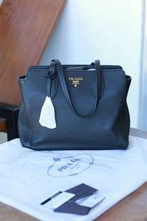 Prada Daino Leather Black Bag