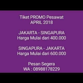 Tiket Promo Pesawat Jakarta - Singapura
