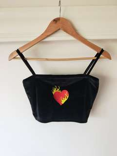 Heart On Fire Crop Top
