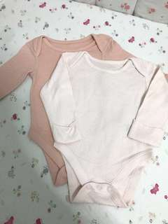 M&S Long Sleeve Baby Girl Bodysuit