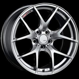 SSR GTV03 Silver 17inch With Tyres