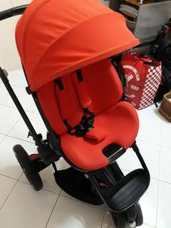 Stroller and baby car seat to let go