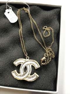 Chanel 頸鏈 大logo 閃亮 全新購自巴黎保正真品