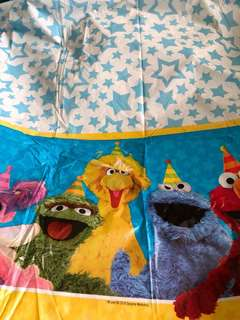 Sesame street Table cover 137 cm by 243 cm table cover ( For Rent)