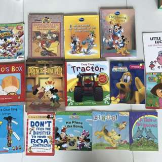 All must go! Mickey Mouse clubhouse, Dora, Nursery Rhymes books for sale!!