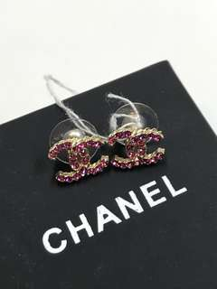 Chanel耳環 罕見紅寶石小號 全新購自專櫃