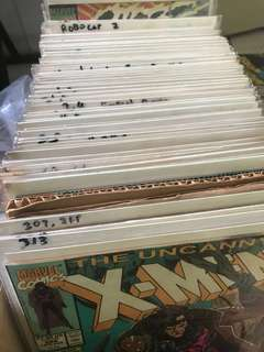 Whole box of copper age comics including some really rare ones. I'm moving house, real heartbreak to part with them. Total more than 150 comics. Will include New Mutant 87 and X-Men 266