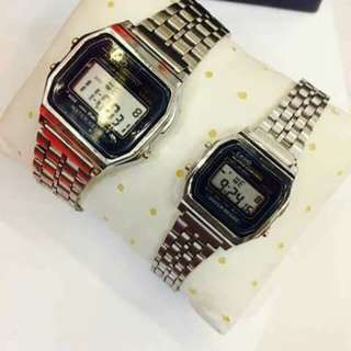 Casio couple with pouch