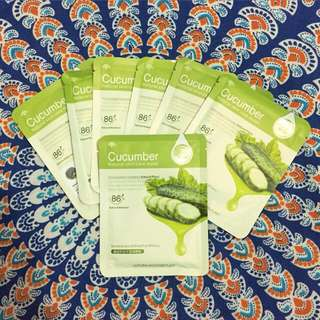 Cucumber sheet mask