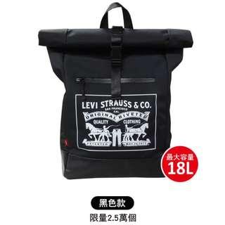 🚚 LEVI'S 7-11限量防水筆電後背包 上學 旅行 書包