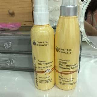 Oriental princess hair serum sunscreen sunblock hair oil