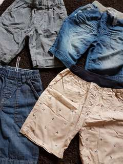 4 pieces of Boys Shorts