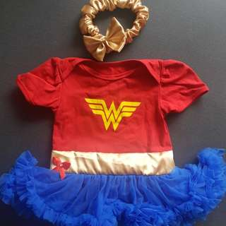 Wonderwomen theme baby party costume 12 to 18months