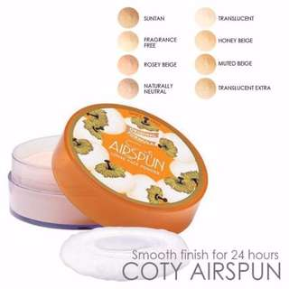 INSTOCK: Coty Airspun Loose Face Powder (Translucent Extra, 65 g/2.3 oz)